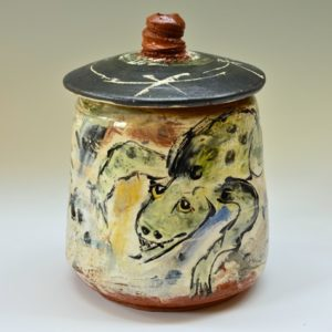 Frogs Covered Jar