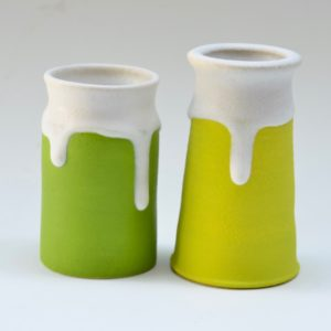 #8 Two vases, Green and Chartreuse