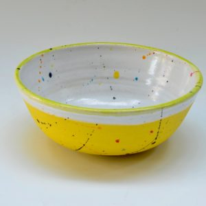 #15 Yellow Bowl with Spatters