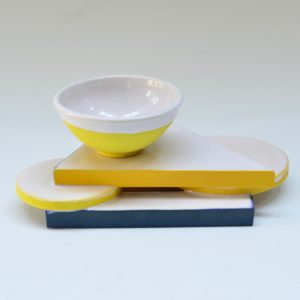 #18 Small White Platform with Small Bowl