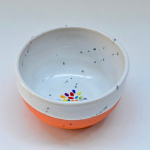 #19 Orange Dot Bowl