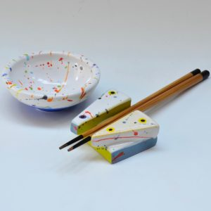 #24 Small Dish and Chopstick Holder