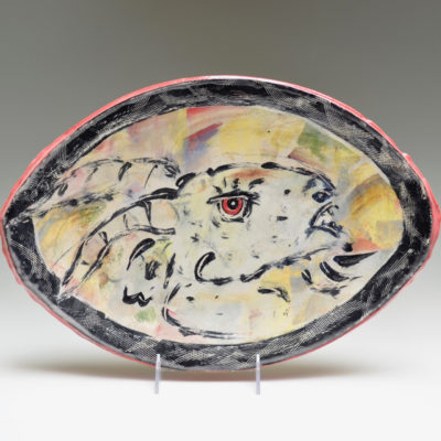 Ron Meyers #13 Oval Goat Platter