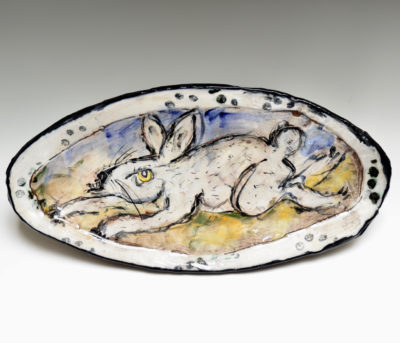 Ron Meyers #14 Oval Rabbit Platter