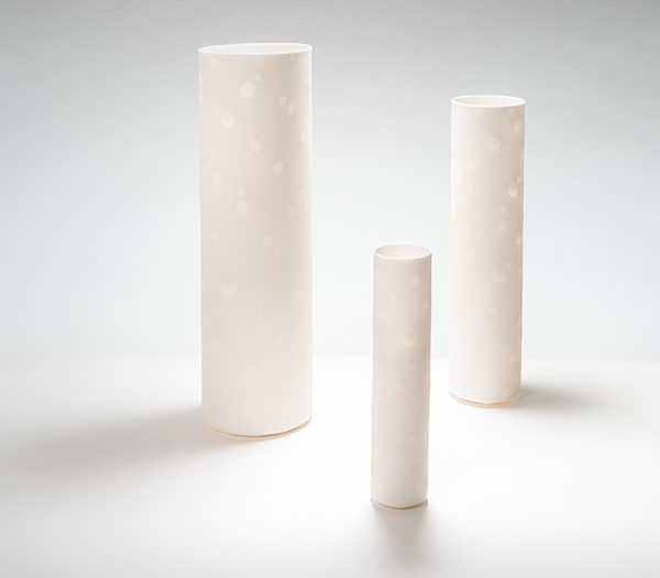 Set of Three Cylindrical Vessels