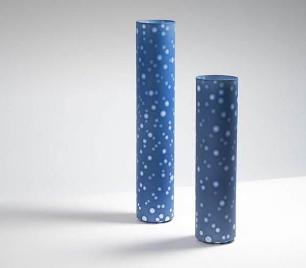 Set of Two Cylindrical Vessels