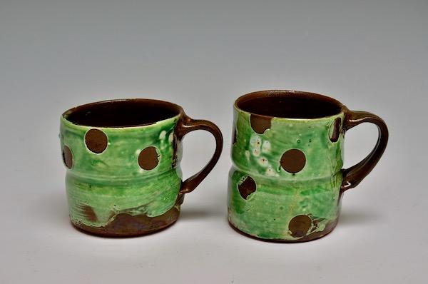 Mugs #016 a SOLD and b  $30. ea